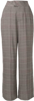 Muller of Yoshio Kubo Plaid Wide-Leg Tailored Trousers