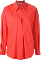 Blumarine ribbed shirt - women - Cotton/Polyamide/Spandex/Elastane - 38