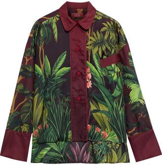 F.R.S For Restless Sleepers Ipno Printed Silk-twill Shirt