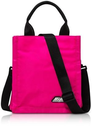 MSGM Fuchsia Mini Signature Shopping Bag