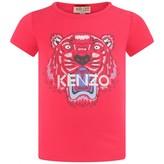 Kenzo KidsBaby Girls Fuchsia Tiger Print Top