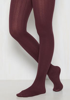Gipsy Tights Cable for Discussion Tights in Plum