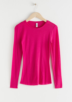 And other stories Fitted Wool Knit Top