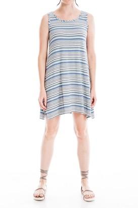 Max Studio Sleeveless Stripe Knit Dress