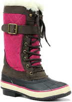 Western Chief Pink & Brown Lace-Up Boot