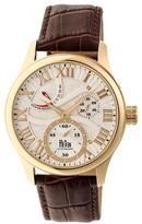 Reign Bhutan Collection Men's Automatic Leather and Stainless Steel Watch