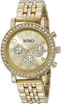 XOXO Women's Quartz Metal and Alloy Automatic Watch, Color:-Toned (Model: XO5906)