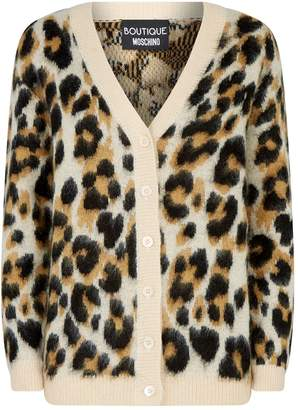 Moschino Leopard-Print Cardigan