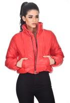 AX Paris Red Wet Look Puffer Jacket