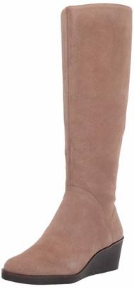 Aerosoles Women's Binocular Knee High - Double Zippered Suede Boot with Memory Foam Footbed