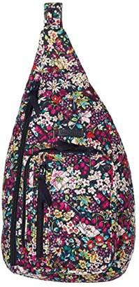 Vera Bradley Sling Backpack (Deep Night Paisley Neutral) Backpack Bags
