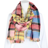 Women's Igloos Ladies' Acrylic Plaid Scarf with Fringe (One Size Fits All)