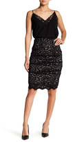Nicole Miller Sandy Floral Lace Skirt