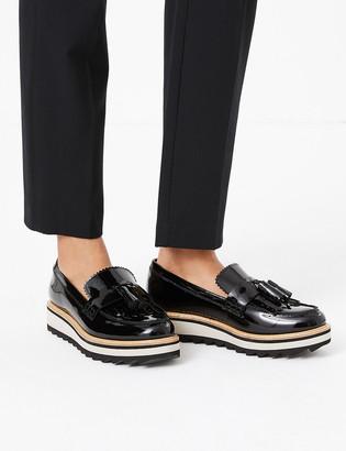 Marks and Spencer Leather Tassel Flatform Loafers