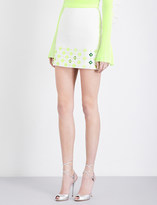 David Koma Embellished stretch-crepe mini skirt