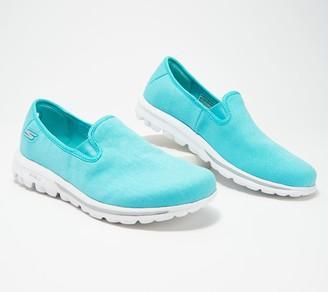 Skechers GOwalk Canvas Slip-On Shoes - Adorn