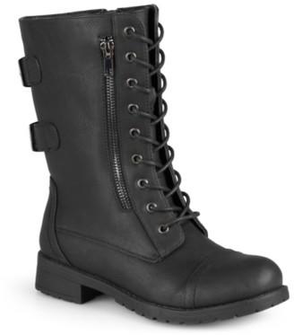Journee Collection Kendel Combat Boot