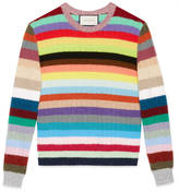 Gucci Cashmere and merino stripe knit top