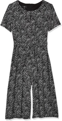 Amy Byer Women's Contemporary Sash Scoop Neck Front Keyhole Jumpsuit