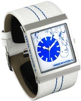 Rockwell Women's MC102 Mercedes White Leather and Blue Watch