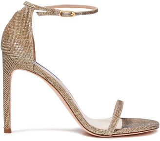 Stuart Weitzman Textured-lame Sandals