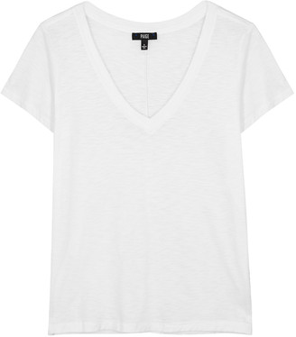 Paige Zaya White Cotton-blend T-shirt