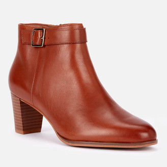 Clarks Women's Kaylin60 Leather Heeled Ankle Boots