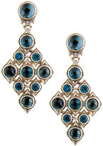 Konstantino Diamond-Shaped Blue Topaz Drop Earrings
