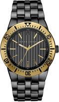 Sean John Men's Black Diamond Collection Diamond Accent Gunmetal Bracelet Watch 48mm 10030889
