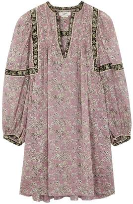 Etoile Isabel Marant Virgnie Floral-print Cotton Mini Dress