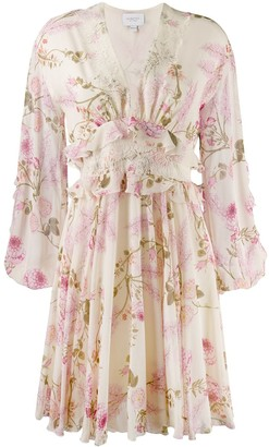 Giambattista Valli Floral Print Day Dress
