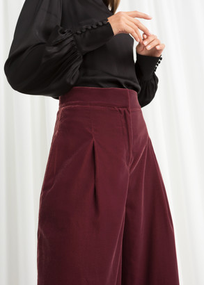 And other stories High Waisted Velvet Pants