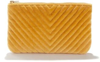 La Redoute La Small Cotton Velvet Purse or Toiletry bag