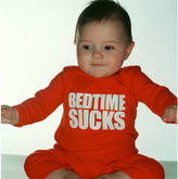 Snuglo Bedtime Sucks Sleepsuit All In One Red