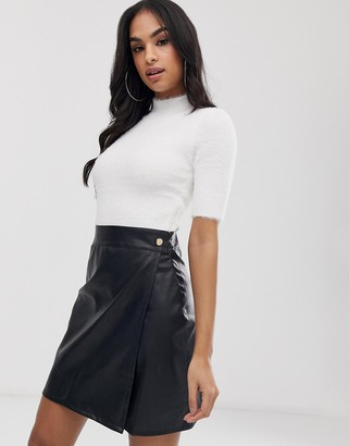 Lipsy 2 in 1 dress-Black