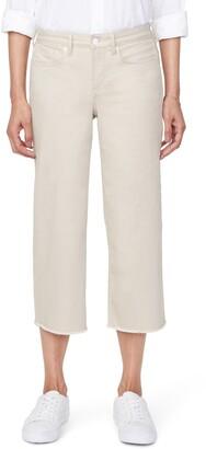 NYDJ Wide Leg Fray Hem Capri Jeans
