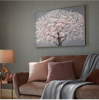 Graham & Brown Cherry Blossoms Printed Framed Canvas With Handpaint Detail