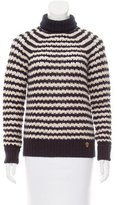 Tory Burch Open-Knit Turtleneck Sweater