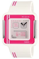 Casio Women's LCF21-4 Square White and Pink Digital Sport Watch