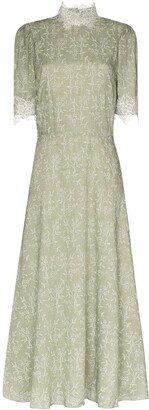 Masterpeace High Neck Lace Trim Dress