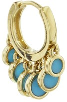 Jacquie Aiche Turquoise Disco Shaker Mini Single Hoop Earring - Yellow Gold