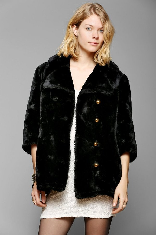 Urban Outfitters Urban Renewal Cropped Faux Fur Coat