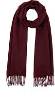 Barneys New York MEN'S FRINGED CASHMERE SCARF-PURPLE