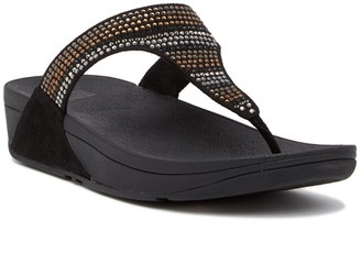 FitFlop Strobe Luxe Embellished Wedge Thong Sandal