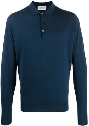 John Smedley long sleeved polo shirt