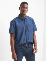 Gap Indigo short sleeve shirt