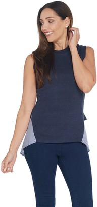 Kathleen Kirkwood Ribbed Knit Cami with Shirttail Hem