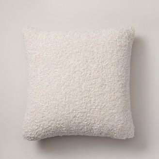 "Indigo Shaggy Faux-Fur Pillow Cover Bleached Stone, 18"" X 18"""