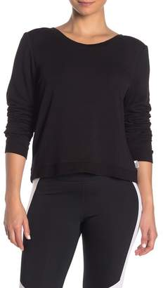 Good American Plunge Back Sweatshirt (Regular & Plus Size)