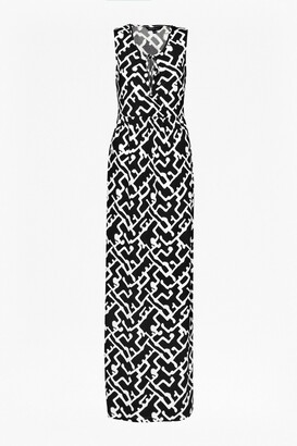 French Connection Downtown Grid Maxi Dress